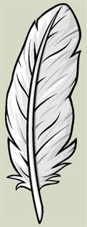 White feather bookmark