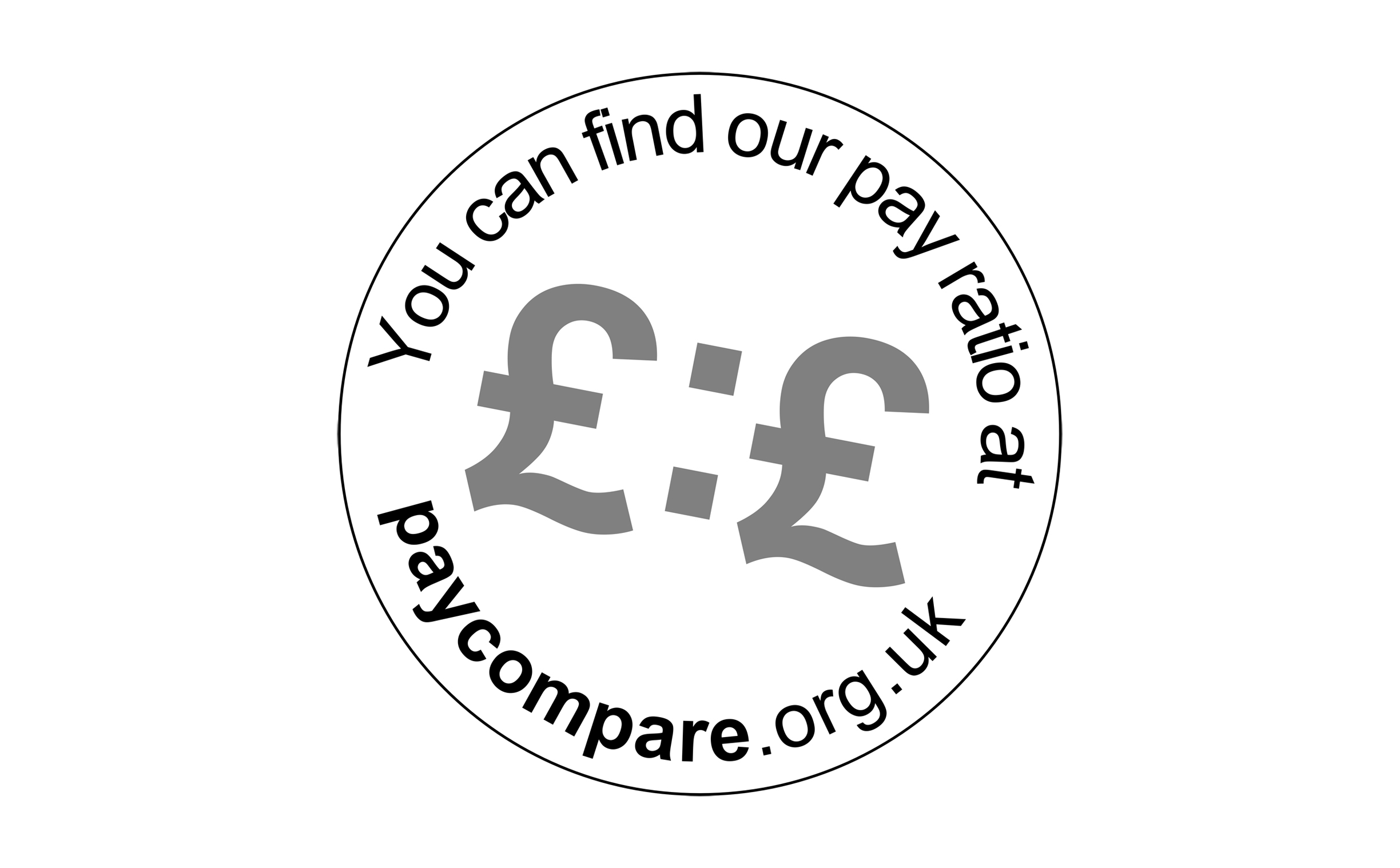 "logo says ""You can find our pay ratio at paycompare.org.uk"