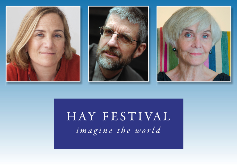 Portrait photos of authors and Quakers Tracey Chevalier, Philip Gross and Sheila Hancock