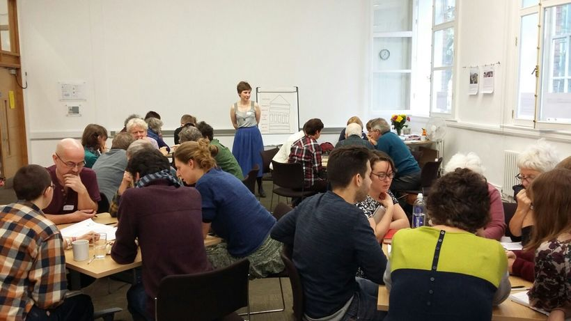 Groups examine the challenges and opportunities presented in our current economic system. Photo: BYM