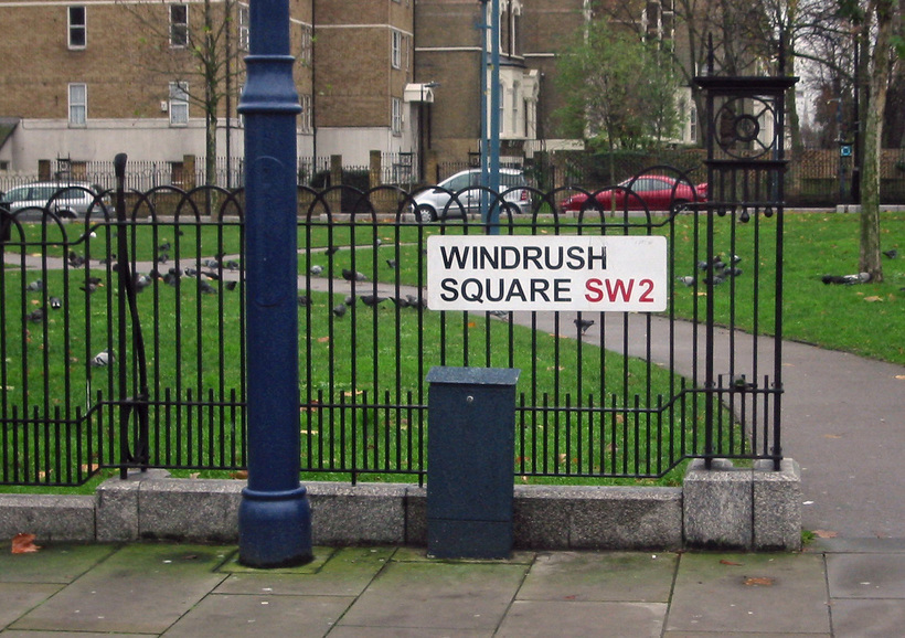 Windrush Square in Brixton, named to commemorate the 50th anniversary of the arrival of the ship bringing the first large group of post-war West Indian migrants to the United Kingdom. Image: Wikimedia Commons