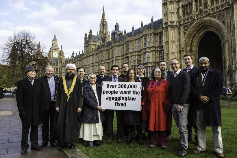 Campaigning against the Lobbying Act in 2013, before the law came into force. Photo: Jessica Metheringham.