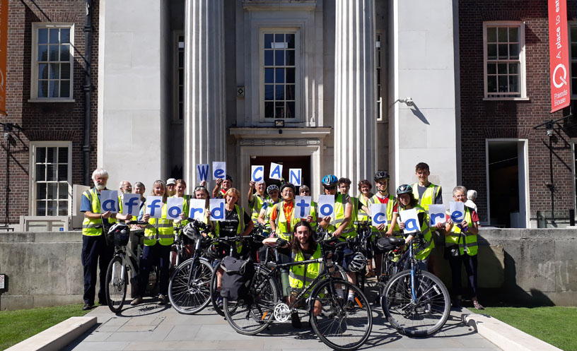 20 cyclists' cards say we can afford to care