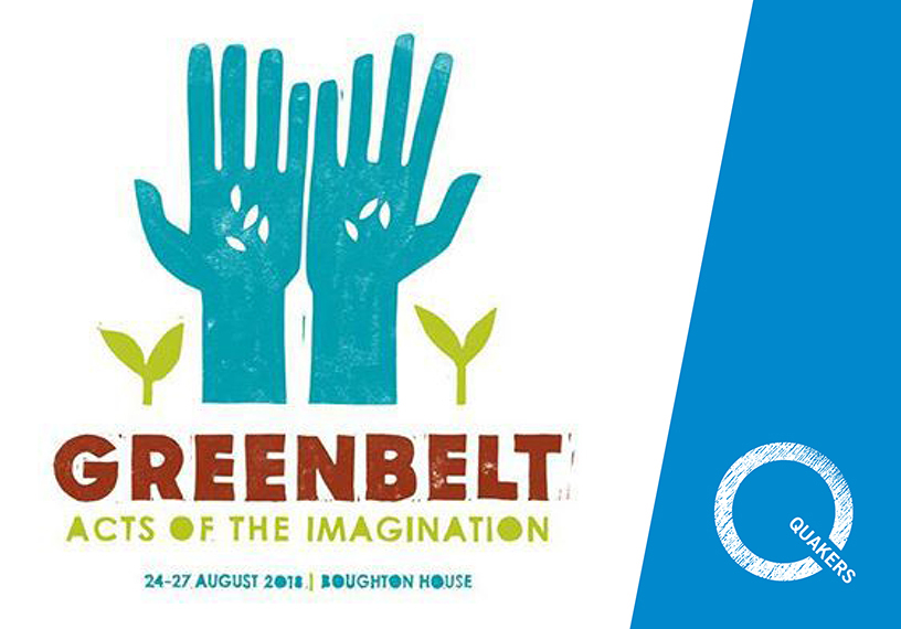 Q logo Greenbelt logo two blue hands