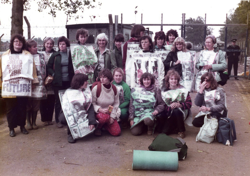"Quakers at Greenham Common. ""Women waiting, watching, just being there, behaving as if peace were possible, living our dream of the future now.""*"