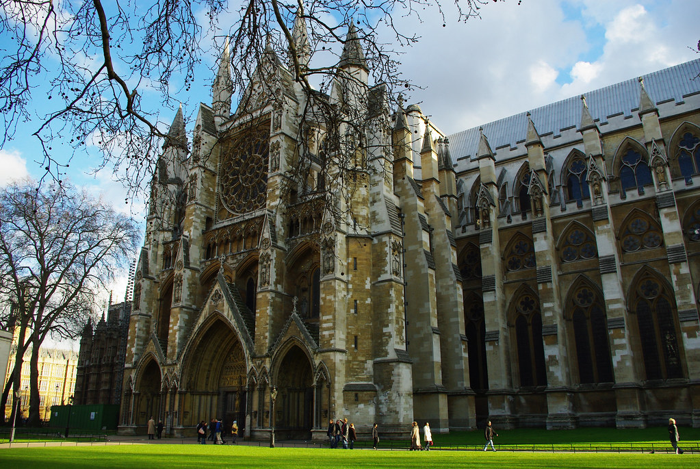 Westminster Abbey on a sunny day