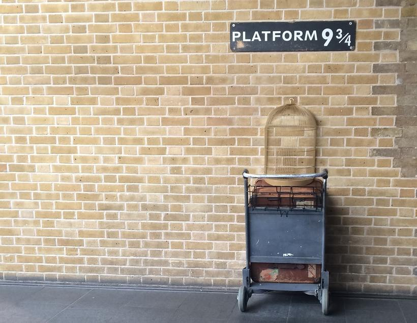 The Hogwarts Express leaves King's Cross station from Platform 9 3/4. Image: Sarah Ehlers on Unsplash