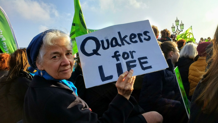 Quakers join the Extinction Rebellion actions to call for urgent action on the climate crisis