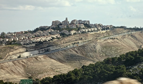 separation wall, settlement, olive groves