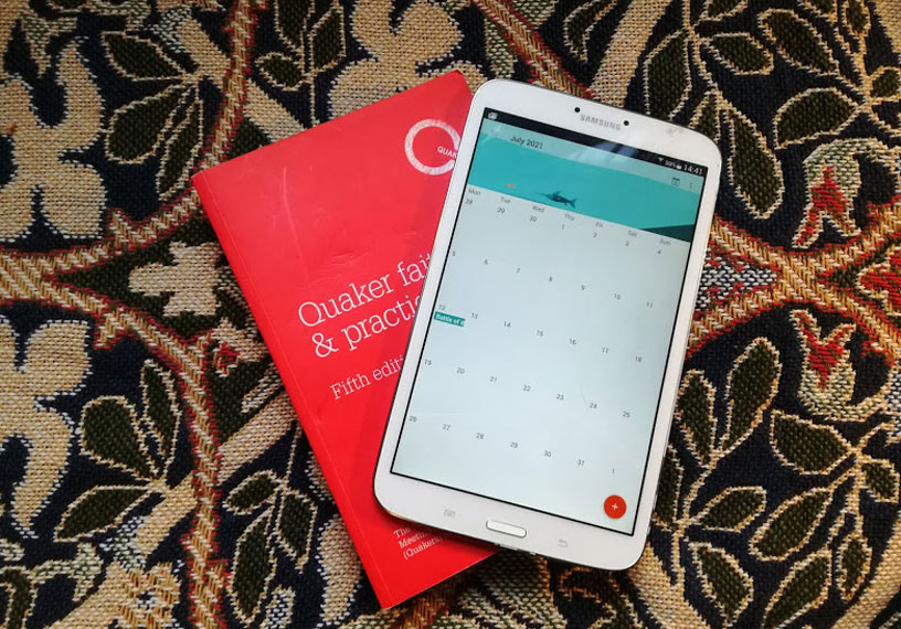 red Qf&p book of discipline and calendar